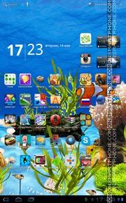 Aquarium Live theme screenshot