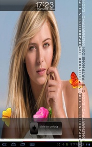 Maria Sharapova 08 theme screenshot