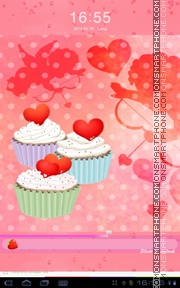 Cupcake Heart theme screenshot