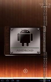 Скриншот темы Android Metal & Wood