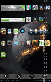 Скриншот темы Dark Planet 01