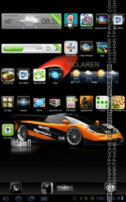 F1 Mclaren theme screenshot
