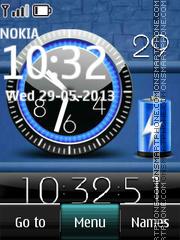 Battery Dual Clock theme screenshot