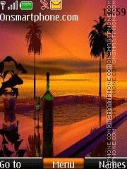 Скриншот темы Palms and Wine