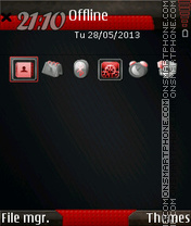 Black Red Icons theme screenshot