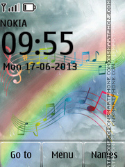 Music Notes Rainbow tema screenshot
