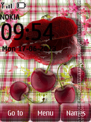 Tasty Cherries tema screenshot