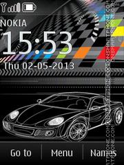 Drawn Car Clock theme screenshot