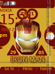 Iron Man 06 theme screenshot