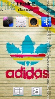Bright Adidas tema screenshot