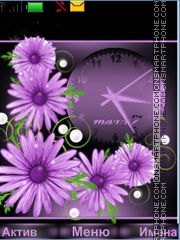 Purple Flowers theme screenshot