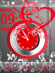 Heart and Clock theme screenshot