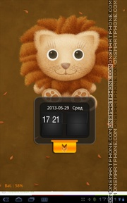 Cute Lion Teddy tema screenshot
