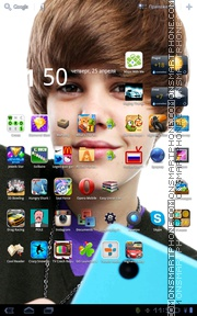 Justin Bieber 06 theme screenshot