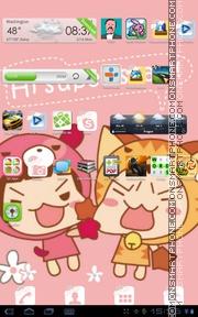 Скриншот темы Cute Girl 08