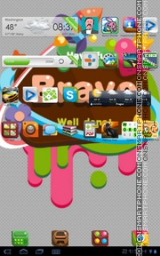 Bravo theme screenshot