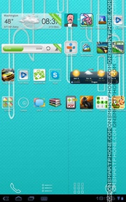 Blue Relief theme screenshot