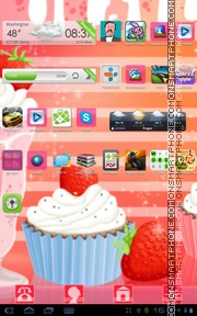 Muffin Shake theme screenshot