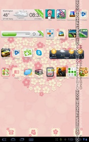 Flower Love tema screenshot