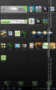 Neon Green 01 theme screenshot