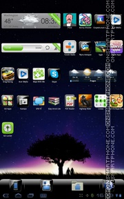 Black Gloss Night Tree theme screenshot