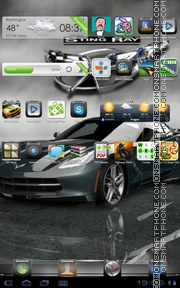 Corvette Stingray GT theme screenshot