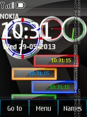Nokia 2013 Color Clocks theme screenshot