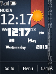 Bookmark Live Clock theme screenshot