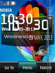 S4 Digital Clock es el tema de pantalla