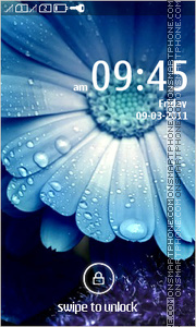 HD Blue Flower theme screenshot