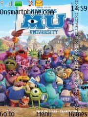 Monster University theme screenshot