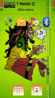 Bob Marley 13 theme screenshot