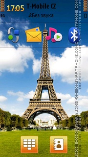 Eiffel Tower 16 theme screenshot