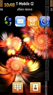 Abstract Fire Gerberas theme screenshot