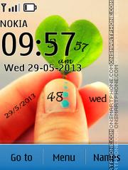 Leaf Clock 05 theme screenshot
