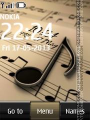 Music Digital Clock 02 es el tema de pantalla