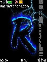 Letter R 02 es el tema de pantalla