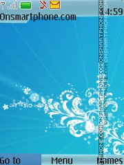 Скриншот темы Abstract Blue 07