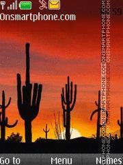 Cool Desert and Cactus theme screenshot