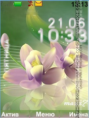 Скриншот темы The ease of flowers