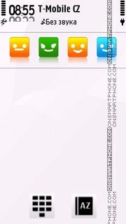 Smiley White tema screenshot