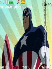 Captain America theme screenshot