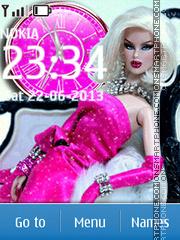 Glamour doll theme screenshot