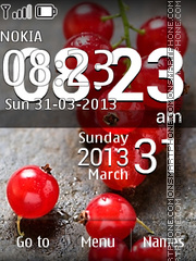 LG Redcurrant Clock theme screenshot