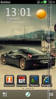 Black Ferrari es el tema de pantalla