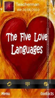 Love Languages theme screenshot