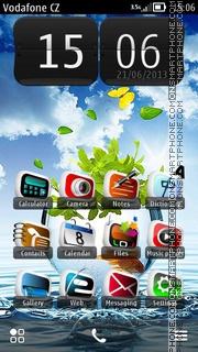 Goldfish Blue HD theme screenshot