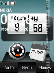 Battery charging clock theme screenshot