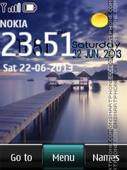 Purple lake live digital theme screenshot