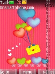 Love Letter Balloons theme screenshot
